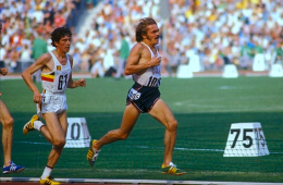 Steve Prefontaine ahead of Frank Shorter, 5000m finals  of the 1972 Munich Olympic Games. Image by Rich Clarkson shared from The Happy Rower http://bit.ly/1Iz2tZ5